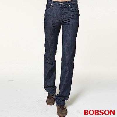 BOBSON 男款低腰伸縮直筒褲