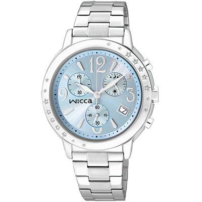 CITIZEN wicca 夢幻星空施華洛世奇計時腕錶(BM1-113-71)-藍/34mm