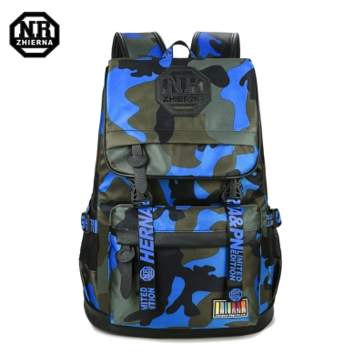 BAC02 BU藍色 NR14吋韓版個性迷彩休閒電腦後背包
