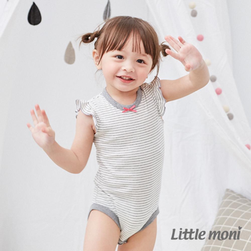 Little moni 家居系列荷葉袖包屁衣 (2色可選)