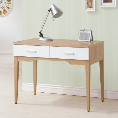 Bernice-蘋果木3.3尺二抽書桌