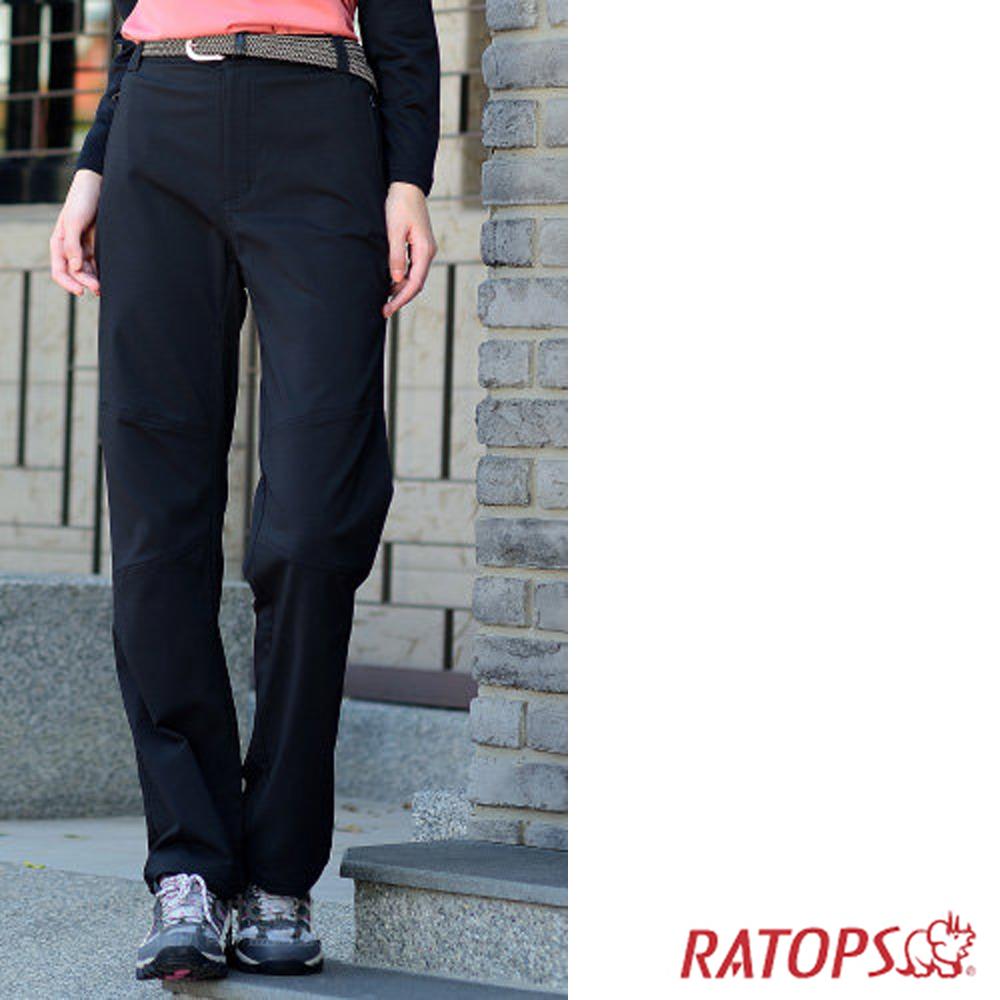 【瑞多仕】女彈性刷毛抗UV保暖長褲_DA3652 黑色 V1
