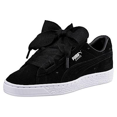 PUMA-SuedeHeartValentineJr孩童鞋-黑色