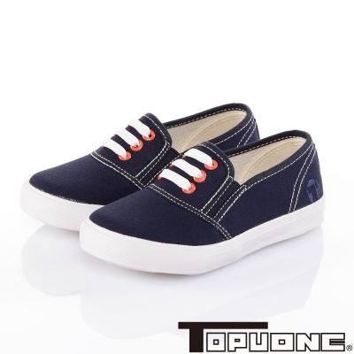 TOPUONE 學院風輕量帆布童鞋-藍(16.5-22.5cm)