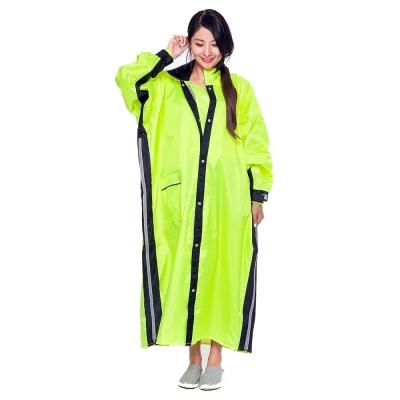 Joahi W027 一件式 雙側開 連身雨衣(螢光黃)