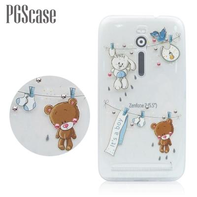 PGS ASUS Zenfone 2 ZE551ML 5.5吋 奧地利彩鑽手機殼-玩偶熊
