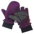 【VOSUN】新款 DINTEX 輕量防風防水翻蓋兩用手套/V-586 紫紅