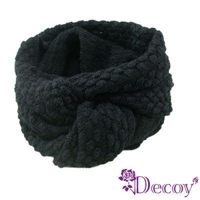 【Decoy】純色時尚*點點圍脖套/黑