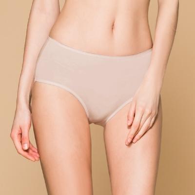 台灣製 保養級天然蠶絲蛋白低敏感透氣 M-XL 中腰內褲 優雅紫 可蘭霓Clany