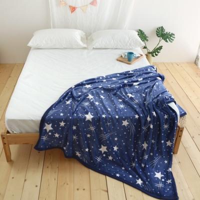 絲薇諾 北極流星 145×200cm法蘭絨毯包邊四季毯