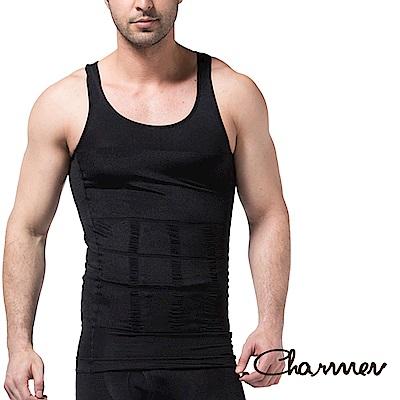 男性機能塑身衣 坦克加壓版背心 黑色 Charmen