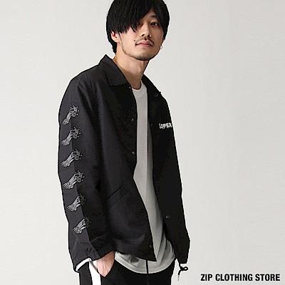 休閒教練夾克(2色) ZIP日本男裝