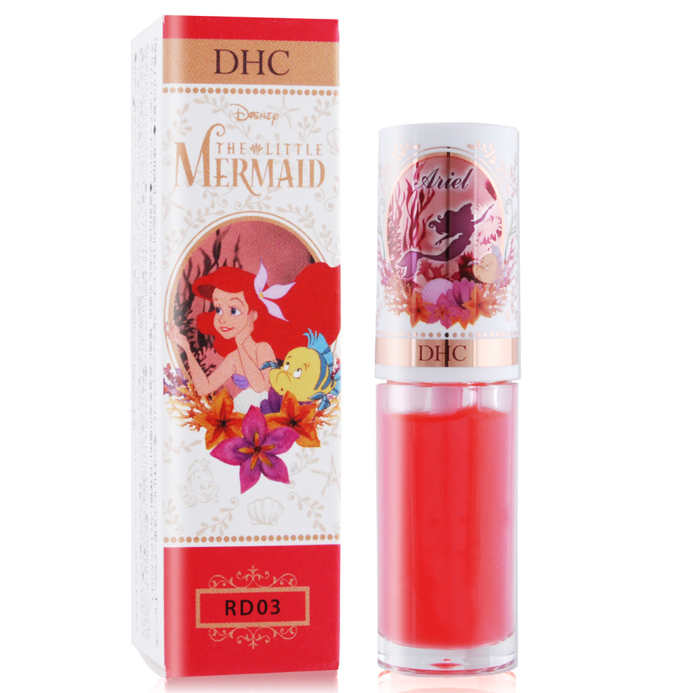 DHC Disney 公主潤色唇油精華-美人魚4g#RD03 紅潤-2018限量新款