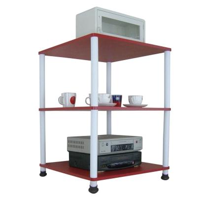 Dr. DIY 60x60公分-三層長管-置物架/電器架(三色可選)