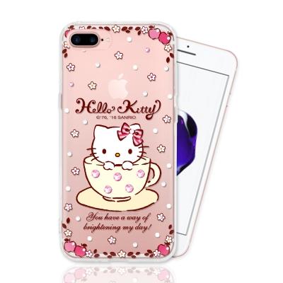 iphone 7Plus 三麗鷗正版授權 HELLO KITTY 彩繪空壓手機鑽...