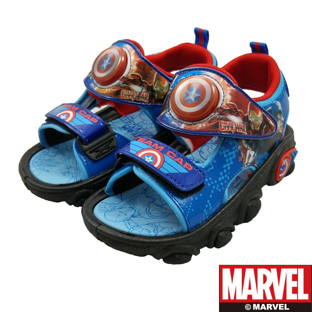MARVEL漫威童美國隊長電燈涼鞋藍