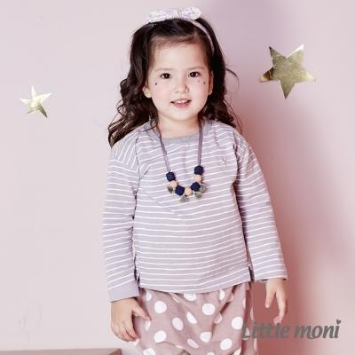 Little moni 星星刺繡條紋上衣 (共3色)