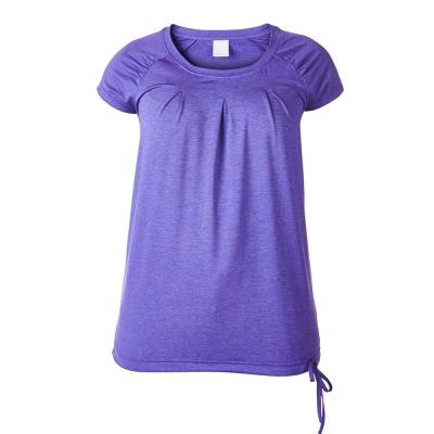 【Berghaus 貝豪斯】女款SHINE銀離子短袖T恤S04F11-紫
