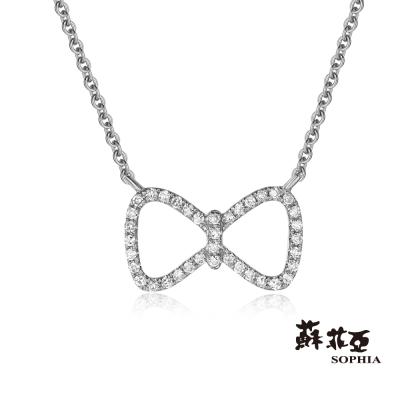 蘇菲亞SOPHIA 鑽鍊-卡通風格 蝴蝶結鑽石項鍊(共2色)