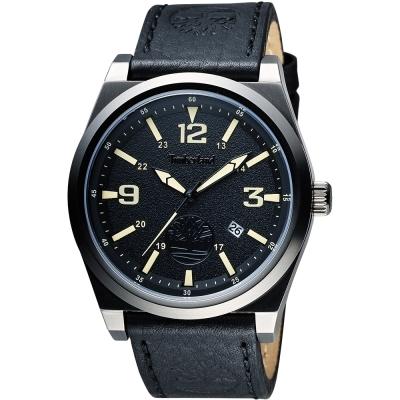Timberland Men's Quartz 時尚腕錶-黑/45mm