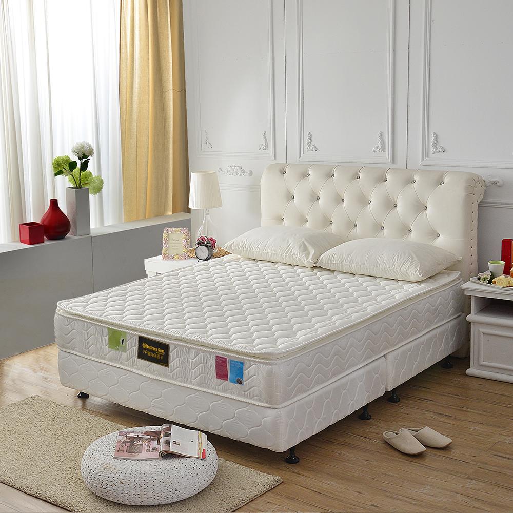 MG珍寶-正三線抗菌防潑水-護邊蜂巢獨立筒床墊-雙人五尺-側邊強化安心好睡眠
