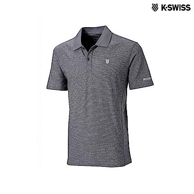 K-Swiss Space Dye Polo Shirt排汗POLO杉-女-灰