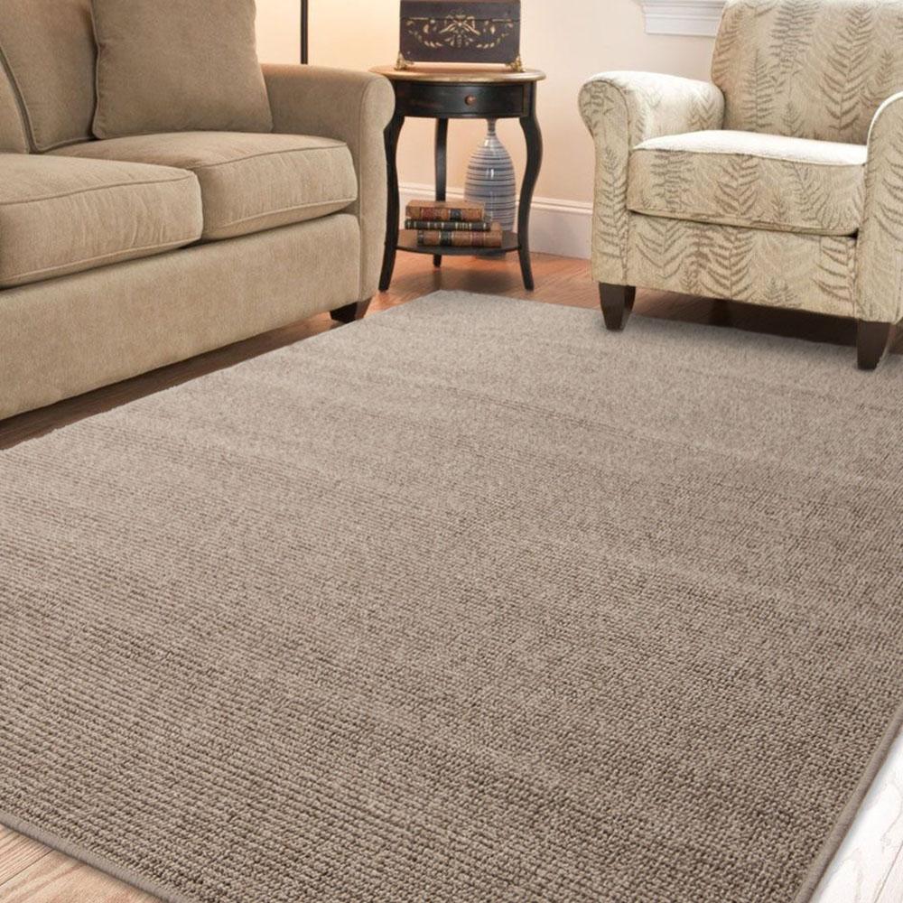 Ambience 比利時Fjord 素面地毯- 棕色 133x190cm