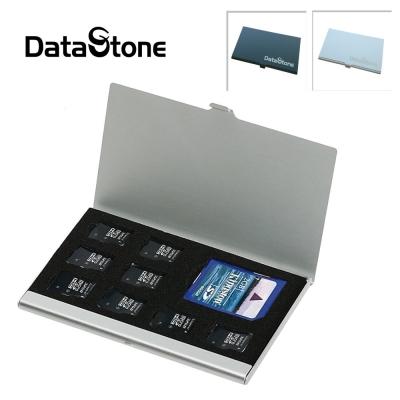 DataStone 名片型鋁合金 1SD+8TF 多功能記憶卡收納盒