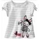 歐美風格設計 小童女童短棉T居家外出 女娃娃 白灰 product thumbnail 1