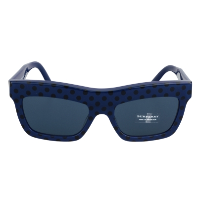 BURBERRY 俏皮點點設計LOGO字樣太陽眼鏡(藍)