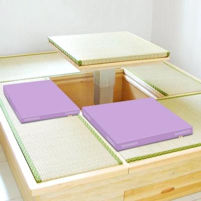 超厚6cm環保PU皮革 和室坐墊 -粉紫2片/組 LOG樂格