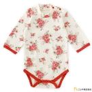 Nishiki 日本株式會社 紅色玫瑰肩開扣長袖包屁衣