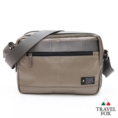Travel Fox旅狐包 輕巧商務雙料防潑水帆布側背包 - 灰綠
