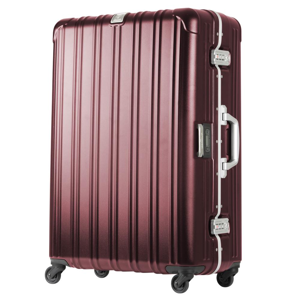 日本 LEGEND WALKER 6201L-69-28吋 電子秤行李箱 消光紅