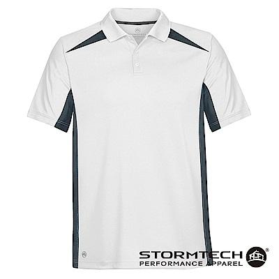 【加拿大STORMTECH】時尚經典透氣速乾POLO衫TXP-1-男-白