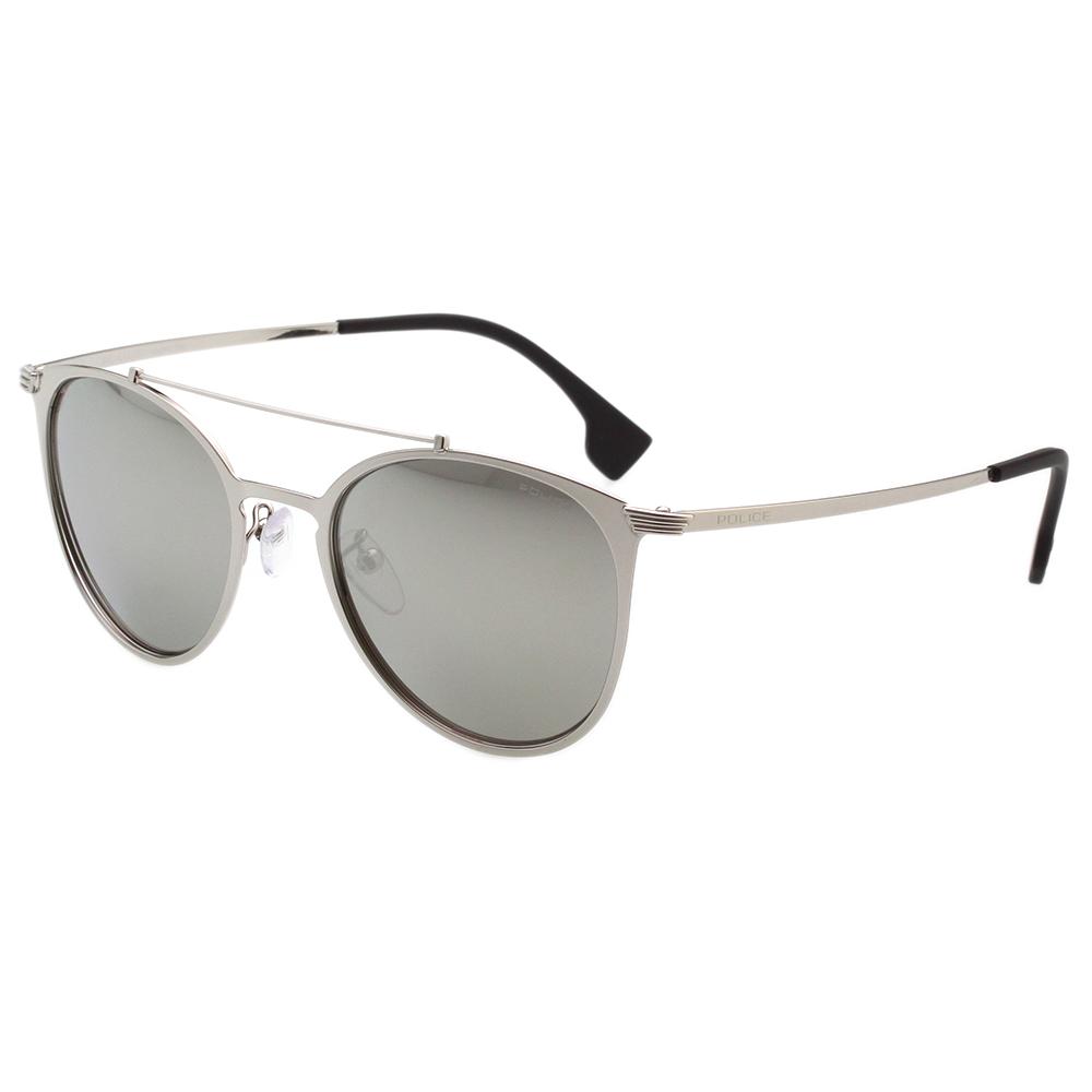POLICE - 時尚造型 水銀灰 太陽眼鏡 (銀色)PE-SPL156V
