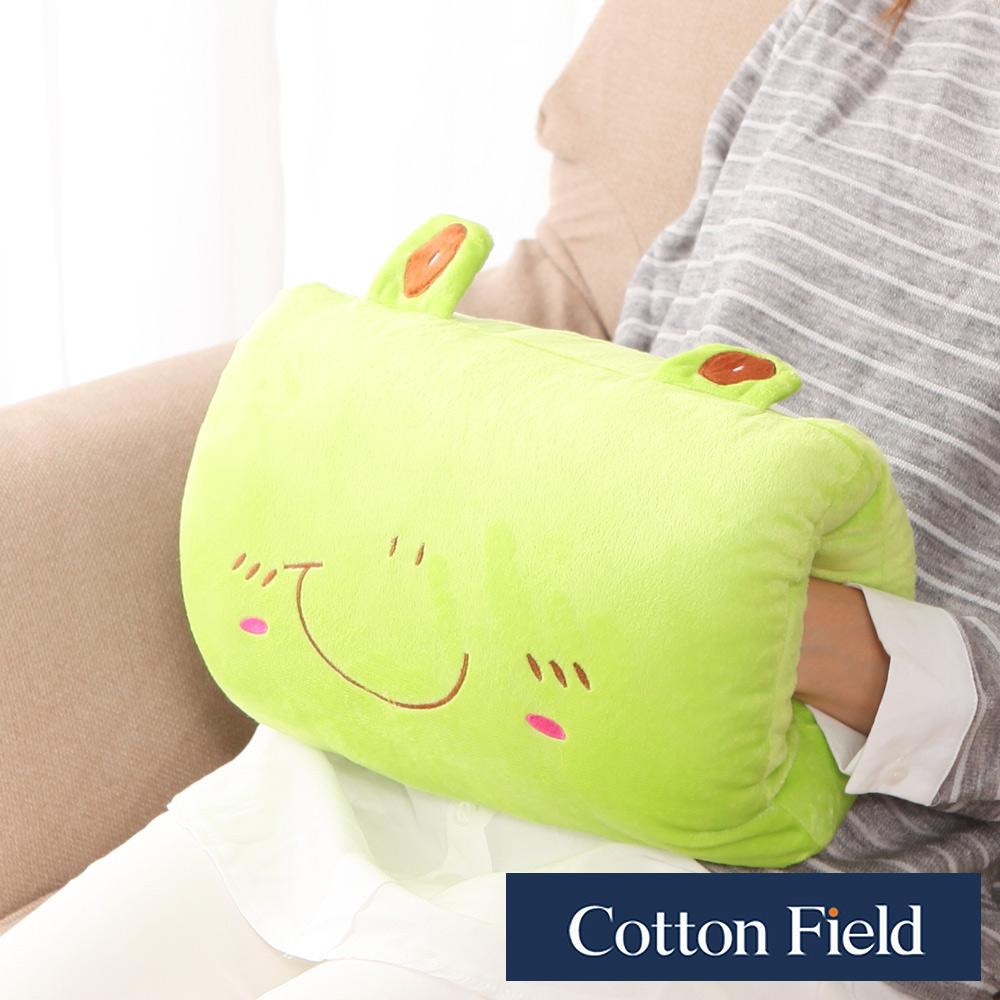 棉花田 小青蛙 可愛造型多功能暖手抱枕