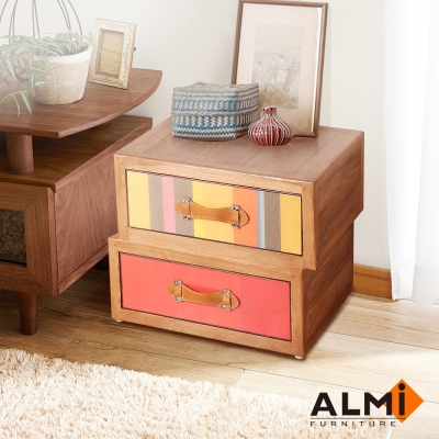 ALMI-ASYMMETRIC 2 DRAWERS 雙抽收納櫃W53*D40*H40CM