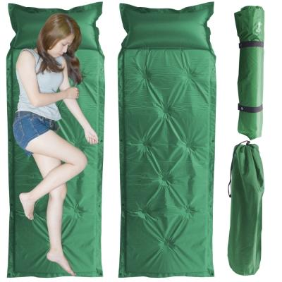 露營防潮自動充氣床墊軍綠二個