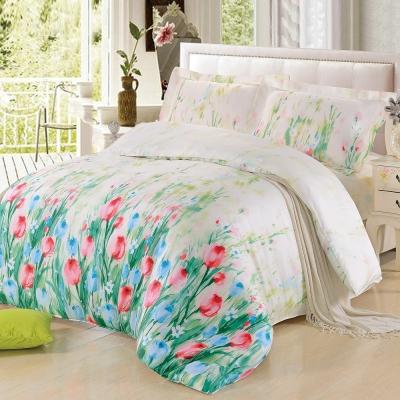 綠光花影-雙人四件式天絲兩用被床包組