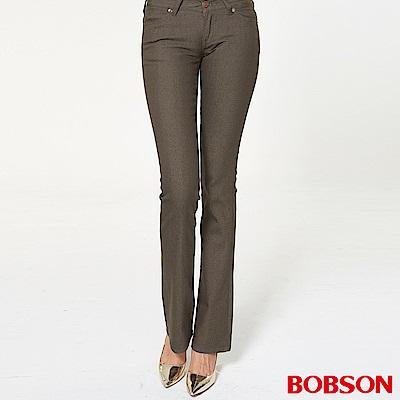 BOBSON 女款超低腰伸縮小喇叭褲