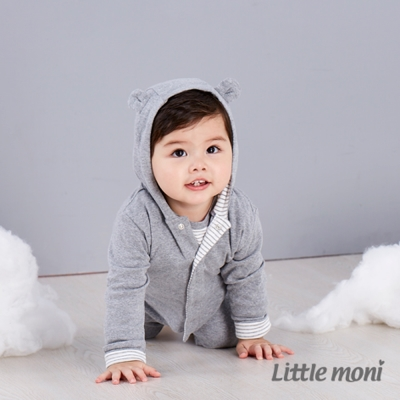 Little moni 純棉家居系列熊熊連帽外套 (共3色)