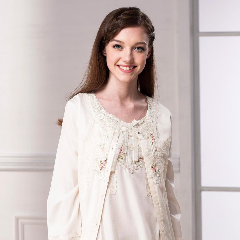 羅絲美睡衣 - 奢華典藏蕾絲小外套-外件 (純真黃)