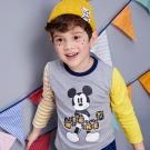 Disney 米奇系列幾何拼接上衣 (共2色)