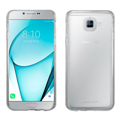 Metal-Slim Samsung A8 2016高抗刮PC透明新型保護殼