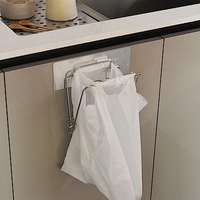 樂貼工坊 不鏽鋼垃圾袋架/掛架/金屬貼面-15.5x16x18.5