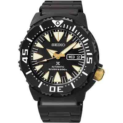 SEIKO 精工 PROSPEX 復古機械潛水腕錶(SRP583K1)-黑/42mm