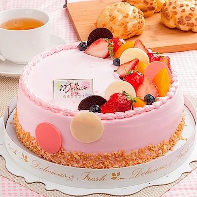 樂活e棧 生日快樂造型蛋糕-初戀圓舞曲蛋糕(8吋/顆,共1顆)