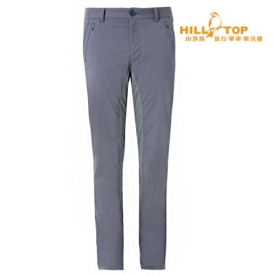 【hilltop山頂鳥】男款超潑水抗UV彈性長褲S07MA8深灰