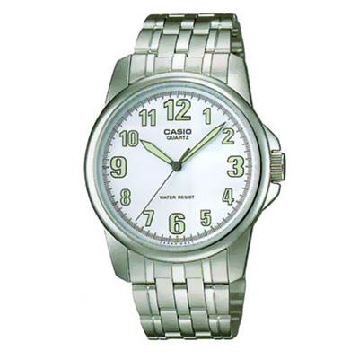 CASIO 都會城市新風範指針錶(MTP-1216A-7B)-白